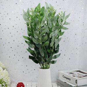 """Шелковые цветы зеленые листья растений искусственная ива букет цветов """"сделай сам"""" Скрапбукинг Поддельные Листва для дома Свадебные украшения"""