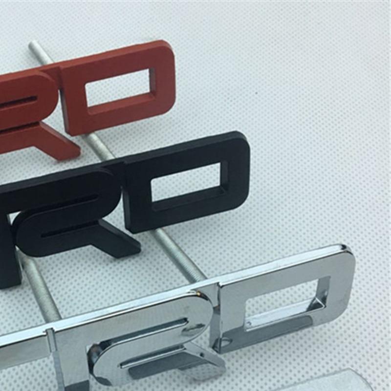 【Hot】 3 set voiture Styling12.3 * 3.5cm en alliage de Zinc placage TRD emblème voiture avant grilles badge logos argent rouge noir