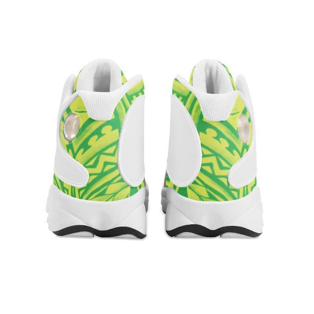 De calidad superior de la Polinesia Samoa estilo Tribal niño zapatillas de deporte Zapatos de bola Logo de equipo deportivo de Baloncesto de los hombres zapatos deportivos 3