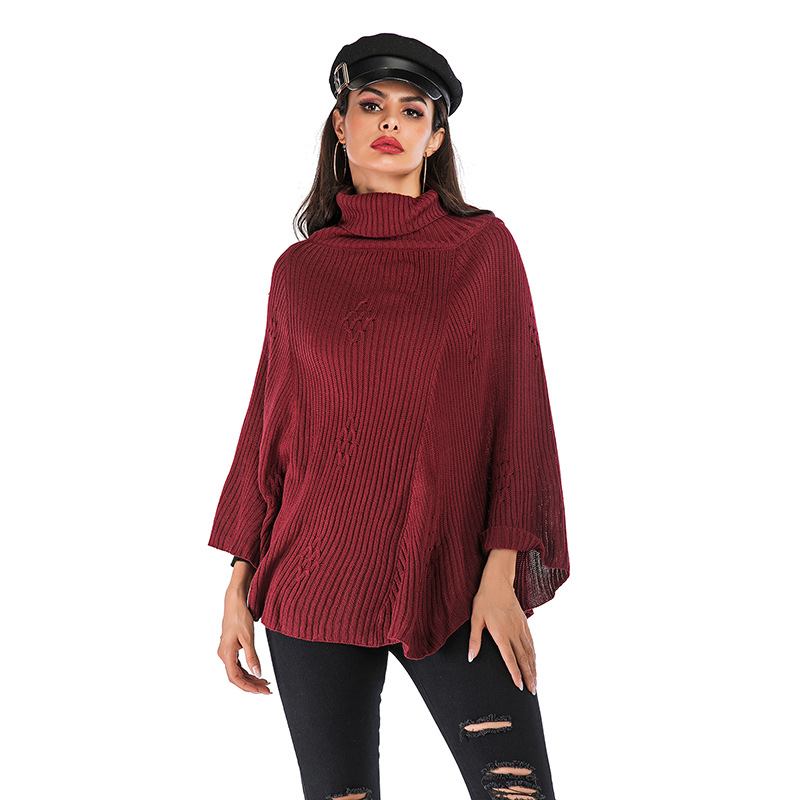 2020 Europe and the United States autumn and winter new high-neck sweater fashion pullover sweater women's loose wild