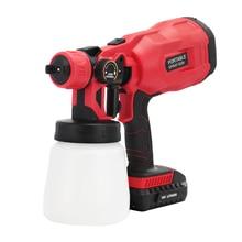 Electric Spray Gun 800ml High Power Household Pressure Paint Sprayer Flow Control Airbrush Spraying & Clean Perfect For Beginner