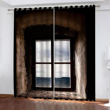 Cortina opaca de alta calidad, ventana de salón, espacio extendido Puerta del dormitorio decoración de cortina de cocina