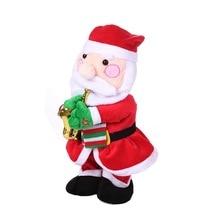 Toys Saxophone Snowman Dancing Doll Singing Electric Santa-Claus for Kids Elk Wlk Christmas-Gifts