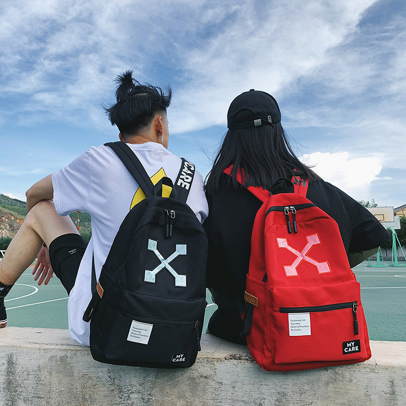 Street Fashion Couples Backpack Men's 2018 New Style Hip Hop College Style School Bag Women's INS Super Fire Travel Bag