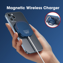15W Qi Magnetic Wireless Charger for iPhone 12 Pro Max for Mag Chargers Stand Mount Fast Charging Pad Support Telephone