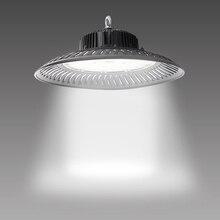 UFO accesorio de luz LED para techo alto Industrial, iluminación de Bahía comercial de 50W 200W, 14000lm, 6500K, luz diurna, para Taller de almacén