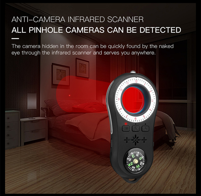 Anti - Spy Detector Wireless Camera Lens Hidden Signal Device Finder Privacy Protect Security Mini Travel Shock Sensor Anti-Thef 2