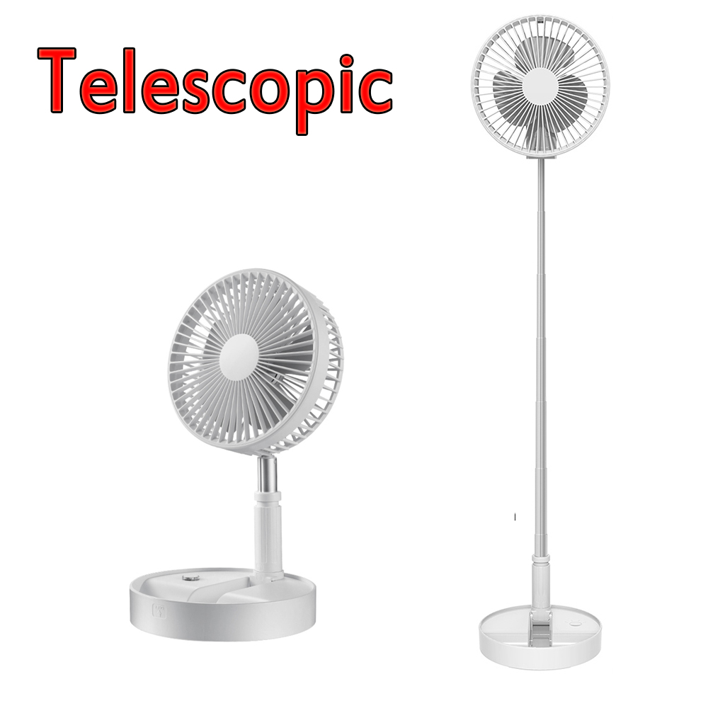 New Folding Telescopic Electric Mini Fan USB Rechargeable Portable Small Home Dormitory Office Desktop Infrared Remote Control