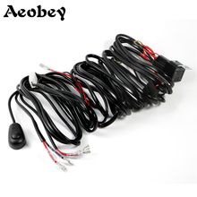 Aeobey Car LED Light Bar Wire 3M 12v 24v 40A Wiring Harness Cable Kit for Auto Driving Offroad Led Work Lamp