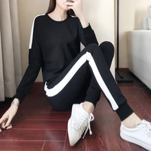 Sports Suit Womens Spring and Autumn 2019 New Leisure Running Two Suits