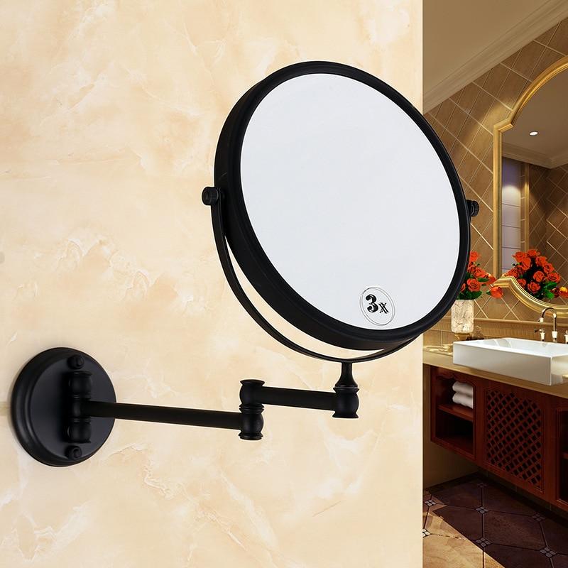 Espejo de doble cara extensible de 8 pulgadas y 3 aumentos para el baño, luz Mural montada en la pared, tocador, maquillaje, baño, cosméticos, espejos inteligentes Colgante de Ángel guardián de cristal H & D, abalorio de coche para espejo retrovisor, decoración colgante de jardín para el hogar, regalo (Chakra)