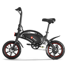 dyu D3F 14 Inch Folding Electric Bicycle Power Assist Moped Electric Bike E-Bike 250W Motor and Dual Disc Brakes