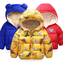 Baby Girls Jacket 2020 Autumn Winter Jacket For Girls Coat Kids Warm Hooded Outerwear Coat For Boys Jacket Coat Children Clothes cheap KEAIYOUHUO Fashion COTTON Polyester Print REGULAR Outerwear Coats Full Fits true to size take your normal size Thin (Summer)