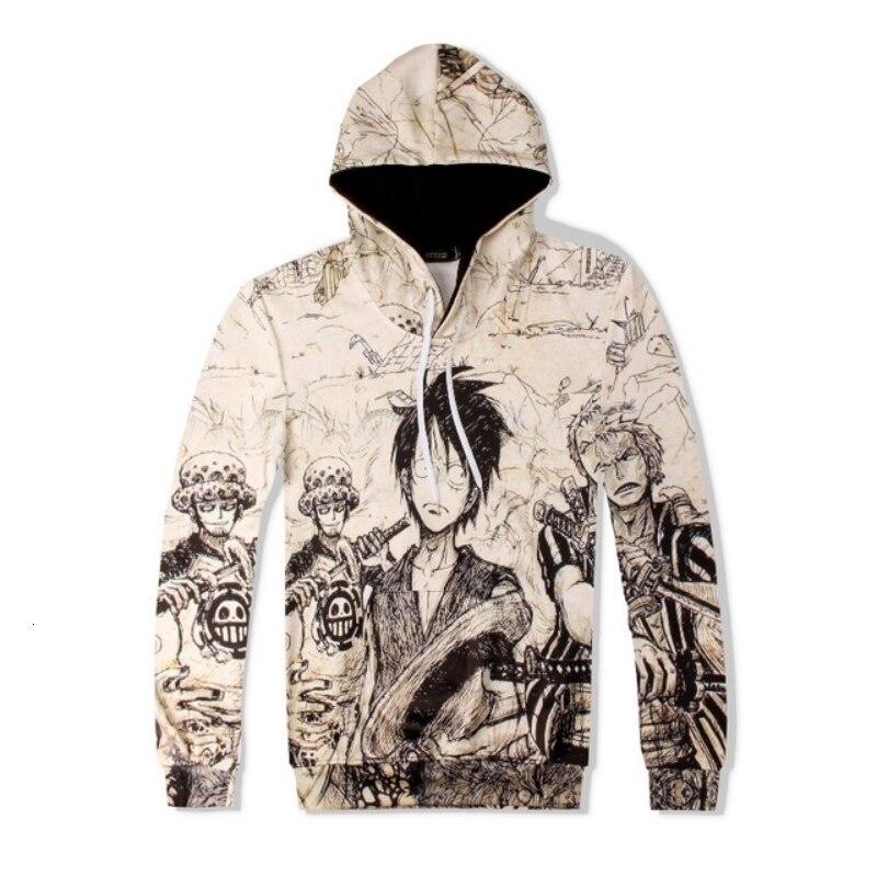 Street Style Cartoon Print Long Sleeve Hoodies Sweatshirt Men Loose Fit Drawstring Pants Mens Sweat Suits Hip Hop Sweatpants