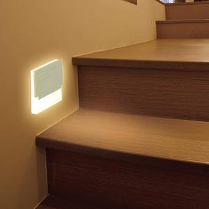 Image 3 - Lampada Đèn LED Dán Tường Đèn Acrylic Sconce Sáng Tạo Bước Đèn Footlight Hành Lang Cầu Thang Con Đường Trang Trí Đèn Tường Hiện Đại