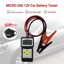 цена на Micro 200 12V Car Battery Tester CCA100-2000 Car Diagnostic Tool Automotive Battery System Analyzer USB for Printing