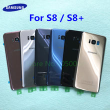 SAMSUNG Galaxy S8 Plus s8+ G955 G955F S8 G950 G950F Glass Back Battery Housing Repair Cover Rear Door Case Replacement(China)