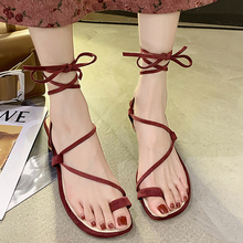 Summer Gladiator Sandals Women Shoes Fashion Cross-tied Sandals Lace Up Sexy Heels Strappy Sandals Shoes Woman Black Khaki Red new arrivals women shoes fashion gladiator casual lace up sandals soft leather cross tied summer flats sandal boots size 34 47