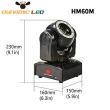 Mini 60W Moving Head Licht Mit Halo Wirkung Strahl Led Bühne beleuchtung RGBW 4in1 Dj Licht