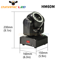 Mini 60W Moving Head Light With Halo Effect Beam Led Stage lighting RGBW 4in1 Dj Light