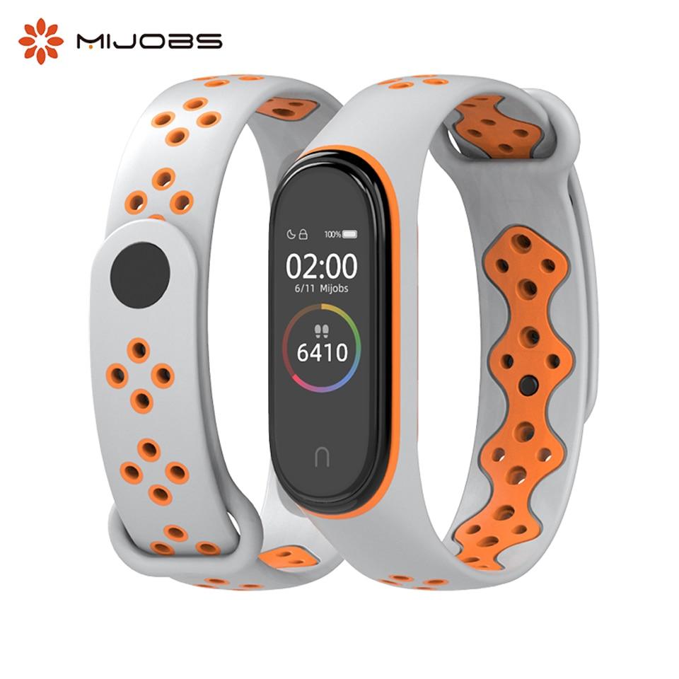 Mijobs Mi Band 4 Wrist Strap Silicone Accessories For Xiaomi Mi Band 3 4 Smart Watch Miband 4 Wristband Sports Bracelet Miband 3