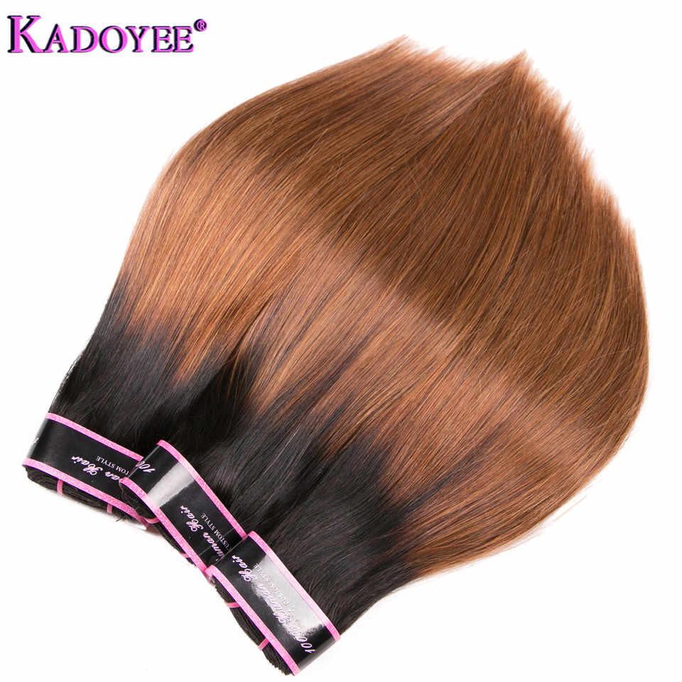 1B/30 Ombre Gerade Menschenhaar Bundles Brasilianische Haarwebart Bundles Funmi Haar Weben 1/3/4 stücke Remy Haar Extensions Für Frauen