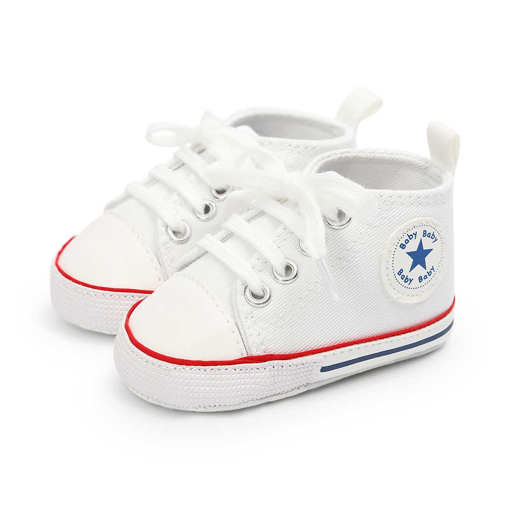Goocheer recién nacido bebé Unisex niños Zapatos Bebé bebé cuna bebé suave antideslizante moda clásica zapatillas deportivas