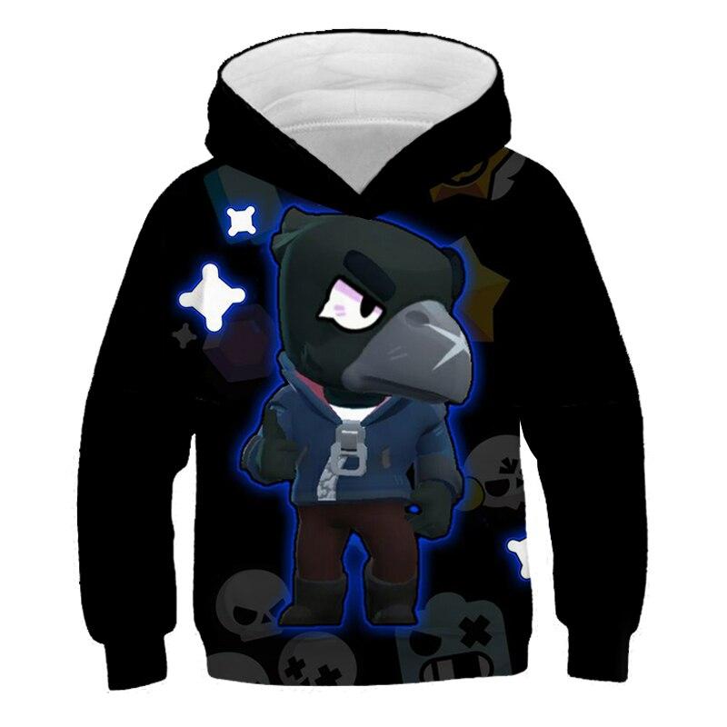 Sell Well 2019 Winter New 3D Brawle Sweatshirt Children Hoodies Game Hip Hop Kids Hoodies Brawle Stares Boys Girls Pullover