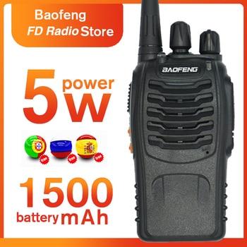 Baofeng BF 888S walkie talkie Portable CB Ham Radio bf 888S 5W Two Way Radio UHF Transceiver Radio Set With Earpiece Ham Radio