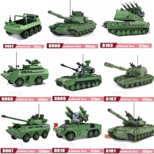 Army Tank compatible Legoes Building  Bricks Military Weapons Brinquedo Menina blocks Toys For Childre Christmas Gift