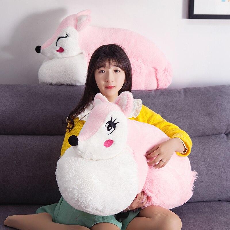 1 шт., 160 см, Kawaii куклы, мягкие животные и плюшевые игрушки для девочек, детские игрушки для мальчиков, плюшевая подушка, лиса, мягкие животные, ...