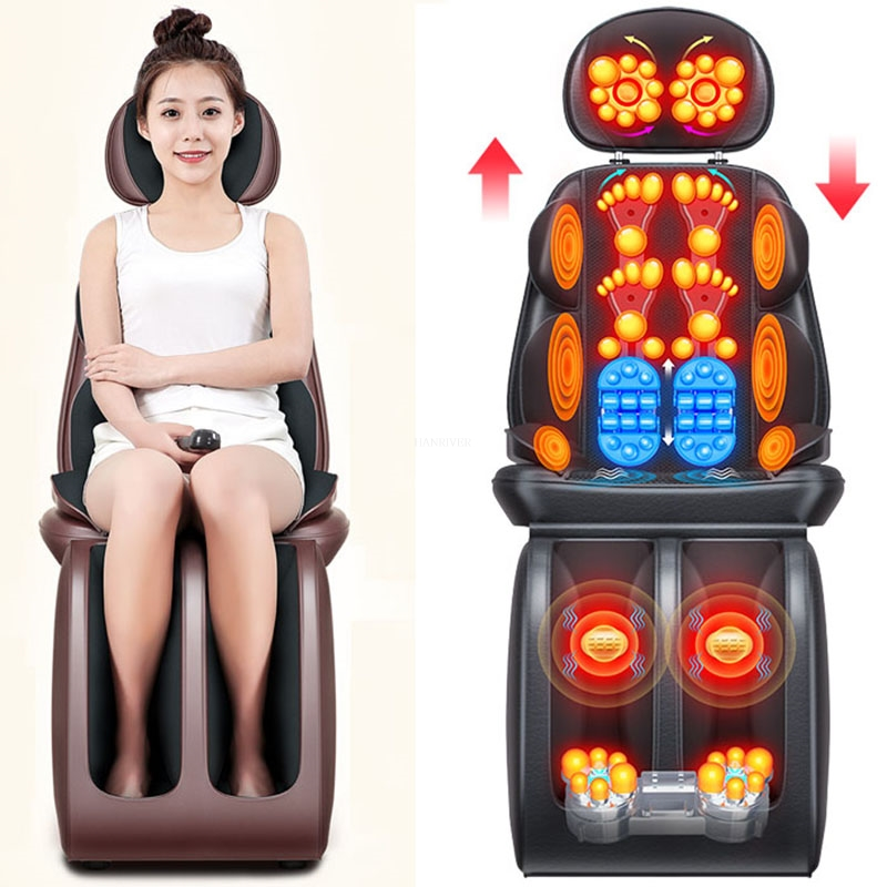 Electric massager neck lumbar back shoulders multi-function body vibration kneading chair cushion household 220V