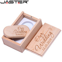 Jaster (Lebih dari 10 Pcs Gratis Logo) maple Kayu USB + Kotak USB Flash Pen Drive 4GB 8 Gb 16 GB G 32GB 64GB Memori stick Fotografi Hadiah(China)