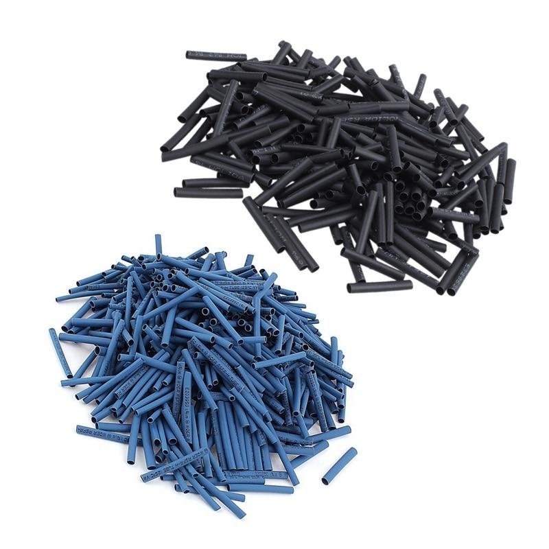 600 шт 2 мм/2,5 мм/3 мм 2:1 термоусадочные трубки обмотки провода комплект синий и 240 шт провода обмотки рукав 3 мм диаметр 30 мм длинные термоусадочные Tu