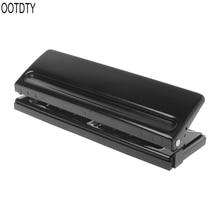 6 delik yumruk kağıt zanaat kesici ayarlanabilir DIY A4 A5 A6 gevşek yapraklı kağıt Puncher Scrapbooking kırtasiye ofis malzemeleri