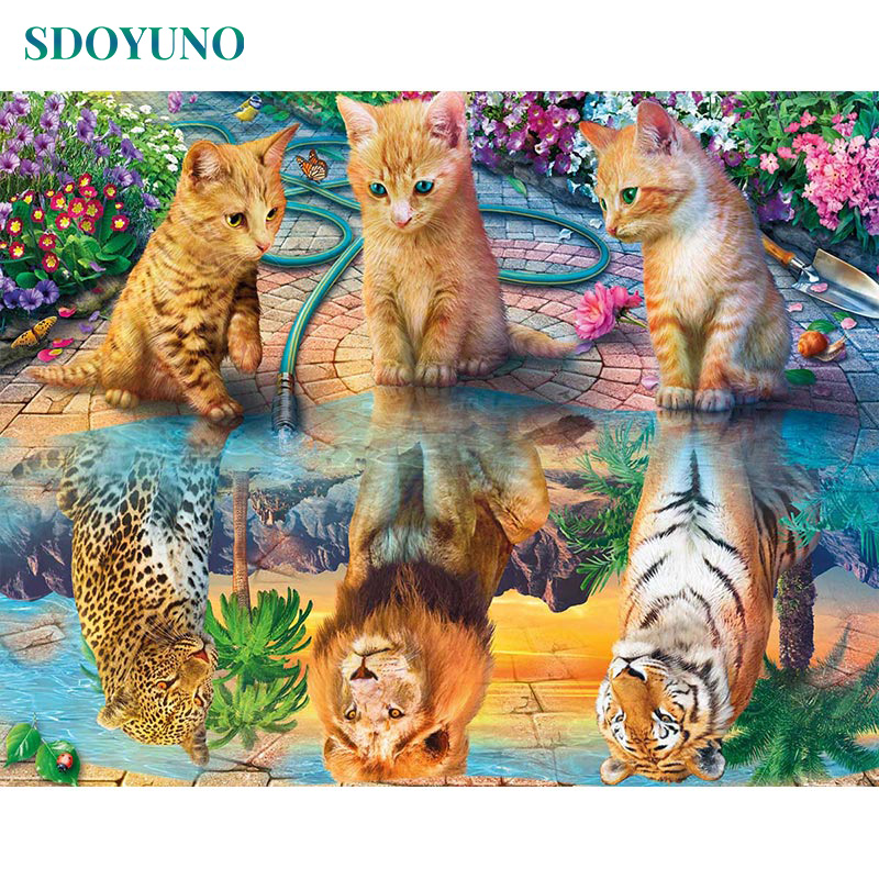 SDOYUNO Pictures By Numbers 60x75cm DIY Painting By Numbers Frameless For Home Decor Digital Painting On Canvas For Unique Gift