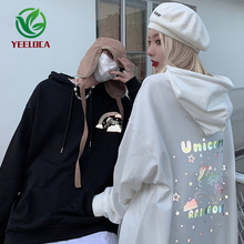 2019 Autumn Winter New 3M Reflective Anime Tianma Hoodie Couple Oversized Cotton Trend Design Fashion Sweatshirt Hip Hop Men