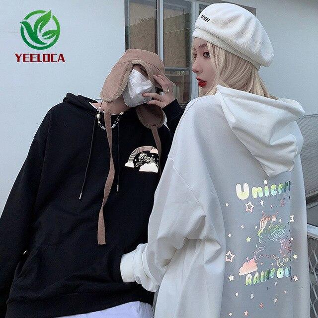 2019 autunno Inverno Nuovo 3M Riflettente Anime Tianma Con Cappuccio Paio di Grandi Dimensioni Cotone di Tendenza di Modo di Disegno Felpa Hip Hop Degli Uomini