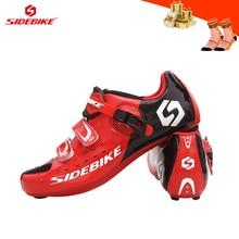 цена SIDEBIKE sapatilha ciclismo Men cycling shoes road self-locking breathable racing outdoor Athletic bicycle cycling sneakers онлайн в 2017 году