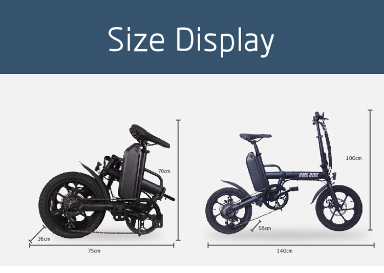 CMS bike f16 plus 16 inch foldable e bike 2