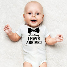 Ladies I Have Arrived Infant Newborn Baby Boys Clothes Short
