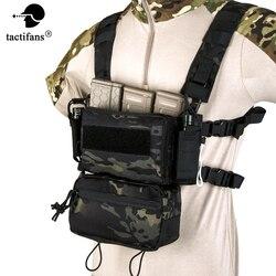 Micro D3 Taktische Weste Brust Rig CRM H Harness Mit Drop Unten Beutel M4 Mag Einsatz Flatback Integratable Airsoft Zubehör