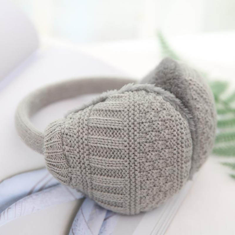 Calymel Winter Fashion Solid Ear Warmer Knitted Earmuffs Women Girls Ear Muffs Earlap Plush Knit Outdoor Warm