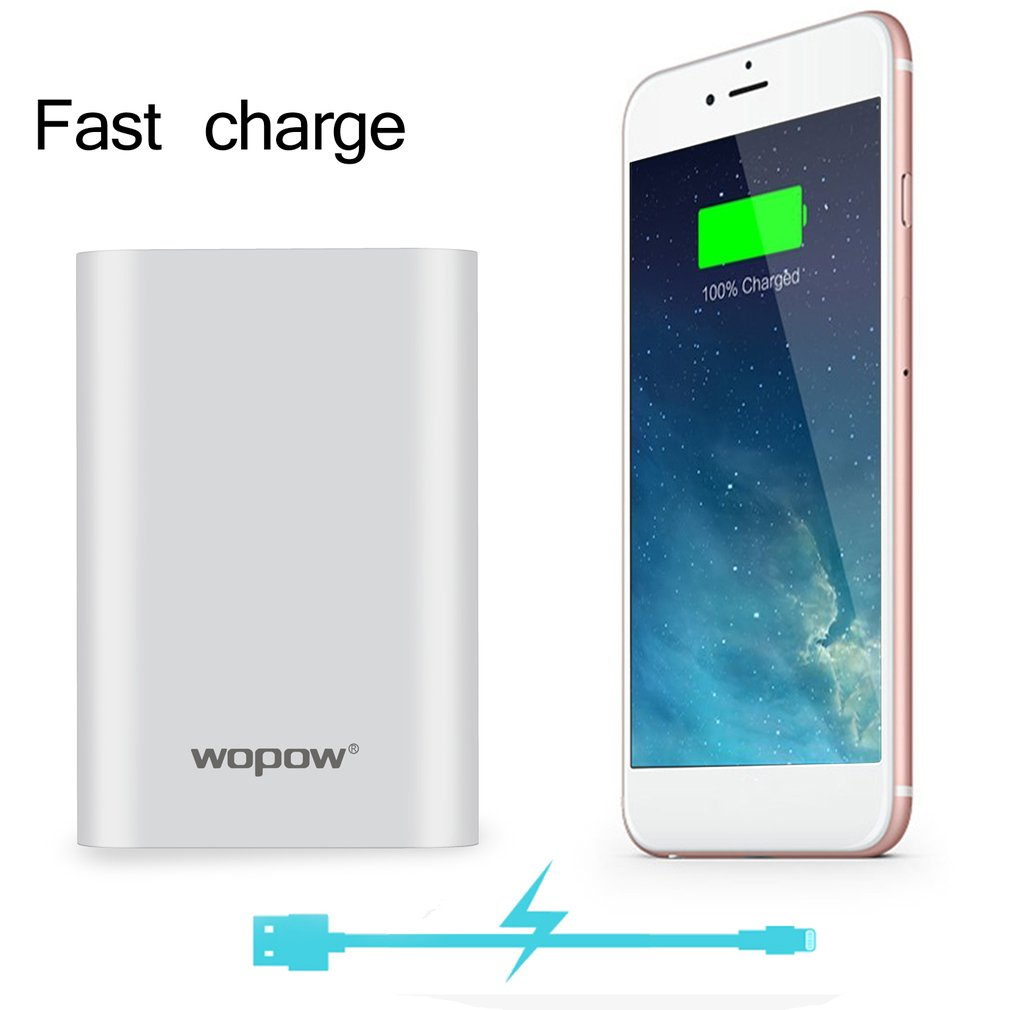 Upgrade <font><b>10000</b></font>+<font><b>mAh</b></font> Fast Charging Mobile PowerP10 PLUS Q Dual USB Output Portable External <font><b>Battery</b></font> <font><b>Pack</b></font> With LED Light Indicator image