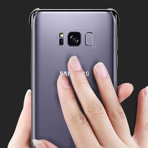 Image 4 - 100% Оригинальный чехол для телефона Samsung Galaxy S8 + S8 Plus G9550 SM G9 SM G955 GALAXY S8 Прозрачный жесткий чехол 6 видов цветов