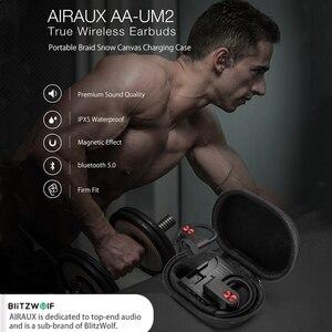 Image 3 - BlitzWolf AIRAUX AA UM2 TWS спортивные стерео HiFi наушники Bluetooth 5,0 ушные крючки спортивные наушники с оплеткой снег Cancas зарядный чехол