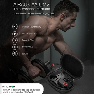 Image 3 - BlitzWolf AIRAUX AA UM2 TWS スポーツステレオ HiFi イヤホン bluetooth5.0 耳フックスポーツイヤフォン編組雪 Cancas 充電ケース