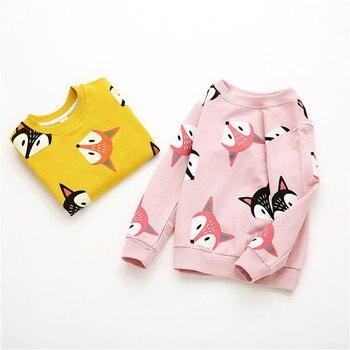 V-TREE Boys Shirts Color Cartoon T-shirt For Girl Cotton Girls Tops Child Shirt Candy Color Kids Blouse School Baby Sweatshirt 4