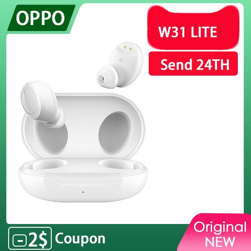 Беспроводные наушники OPPO Enco W31 Lite W11, TWS, Bluetooth 5,0, бас, IP55, водонепроницаемость, для Reno 4 Pro 3