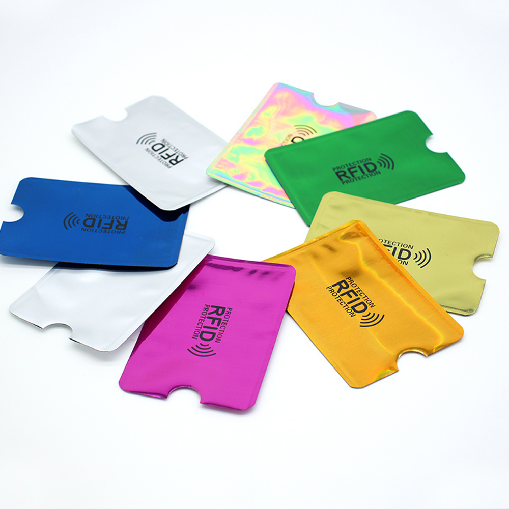 6PCS/lot Pouch Holder Sleeves Scan Aluminum Case Security  Blocking Wallet Anti RFID For Credit Card Passport